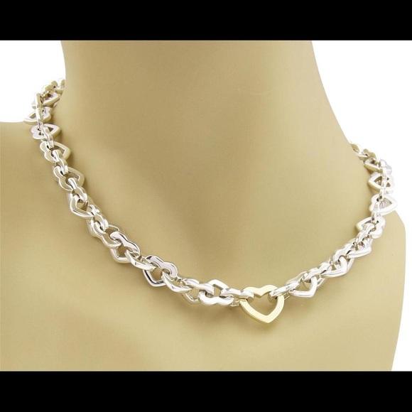 db09f46cd Tiffany & Co. Jewelry | Tiffany Co Heart Link Necklace | Poshmark